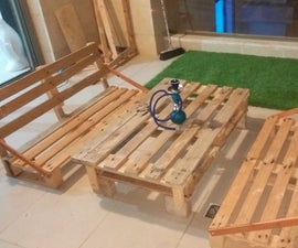 Bench From a Pallet (100% Recycled)