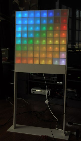 Lampduino An 8x8 Rgb Floor Lamp 22 Steps With Pictures Instructables