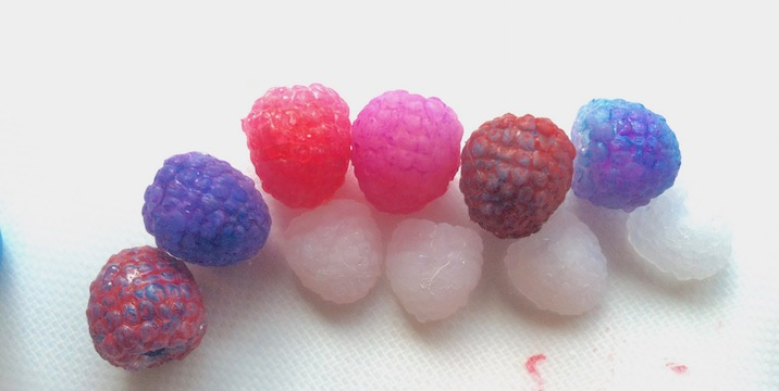 Picture of Coloring the Raspberries (Making the Magic)