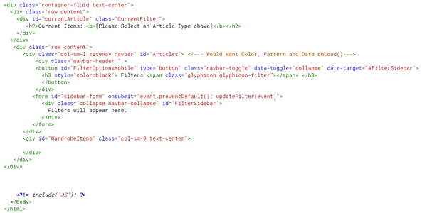 Step 3: the HTML Code (Application.html)