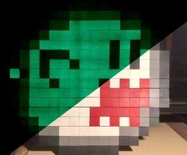 8-Bit Glow in the Dark Pixel Art