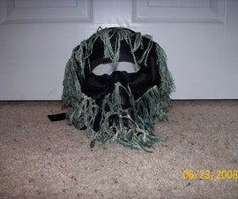 """""""Ghillied up"""" make your own ghillie paintball mask"""