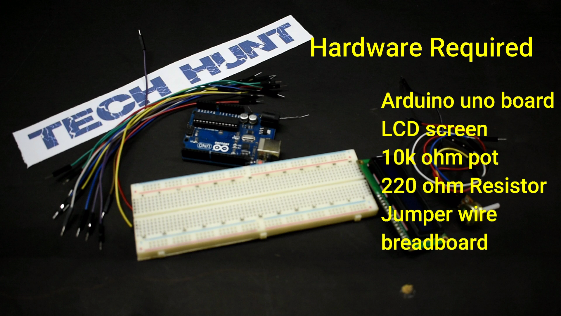 Picture of Hardware Required