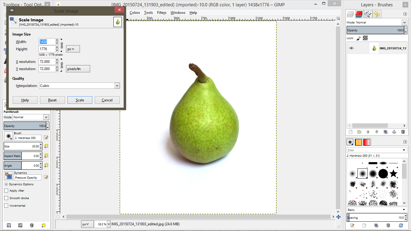 Picture of Editing: Shrinking Image Size for Web