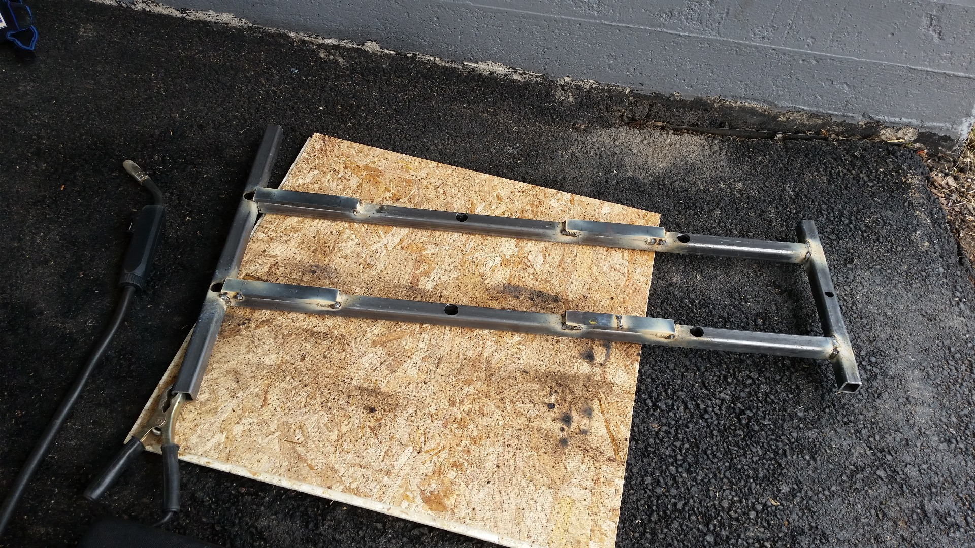 Picture of Weld Together Frame Pieces.