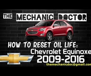 How to Reset Oil Life: Chevrolet Equinox 2009-2016