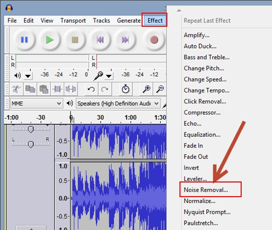 Picture of Remove Background Noise in the Sound Track