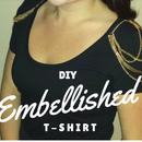 DIY Chain Embellished T-shirt