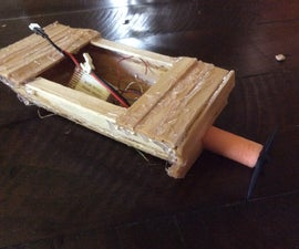 Motorboat Made From Disassembled Drone.