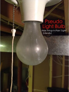 Secret Light Bulb Hiding Place