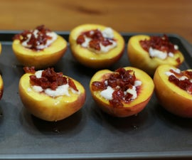 Roasted Peaches Goat Cheese Peaches With Prosciutto and Honey