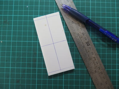 Cut Foam Board Into Size & Mark Reference Lines