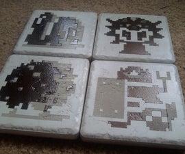 Powder Coated, Laser Masked, Ceramic Tiles
