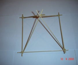 How to build a pyramid from bamboo skewers