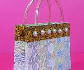 How to Make a Gift Bag From Waste Cardboard Packet?