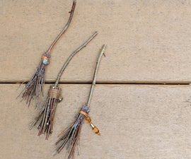 Witchy Broomstick Halloween Decorations