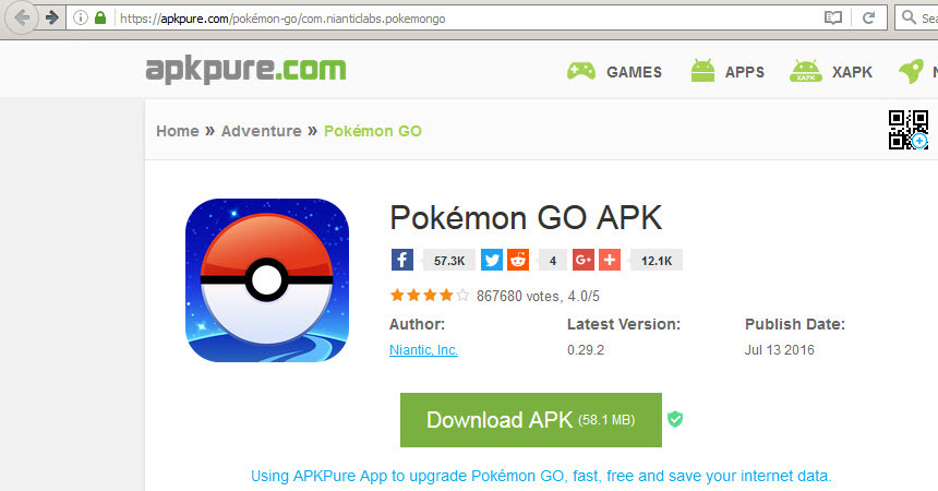 Picture of Step 3: Download Pokemon GO APK File and Place on Android Device