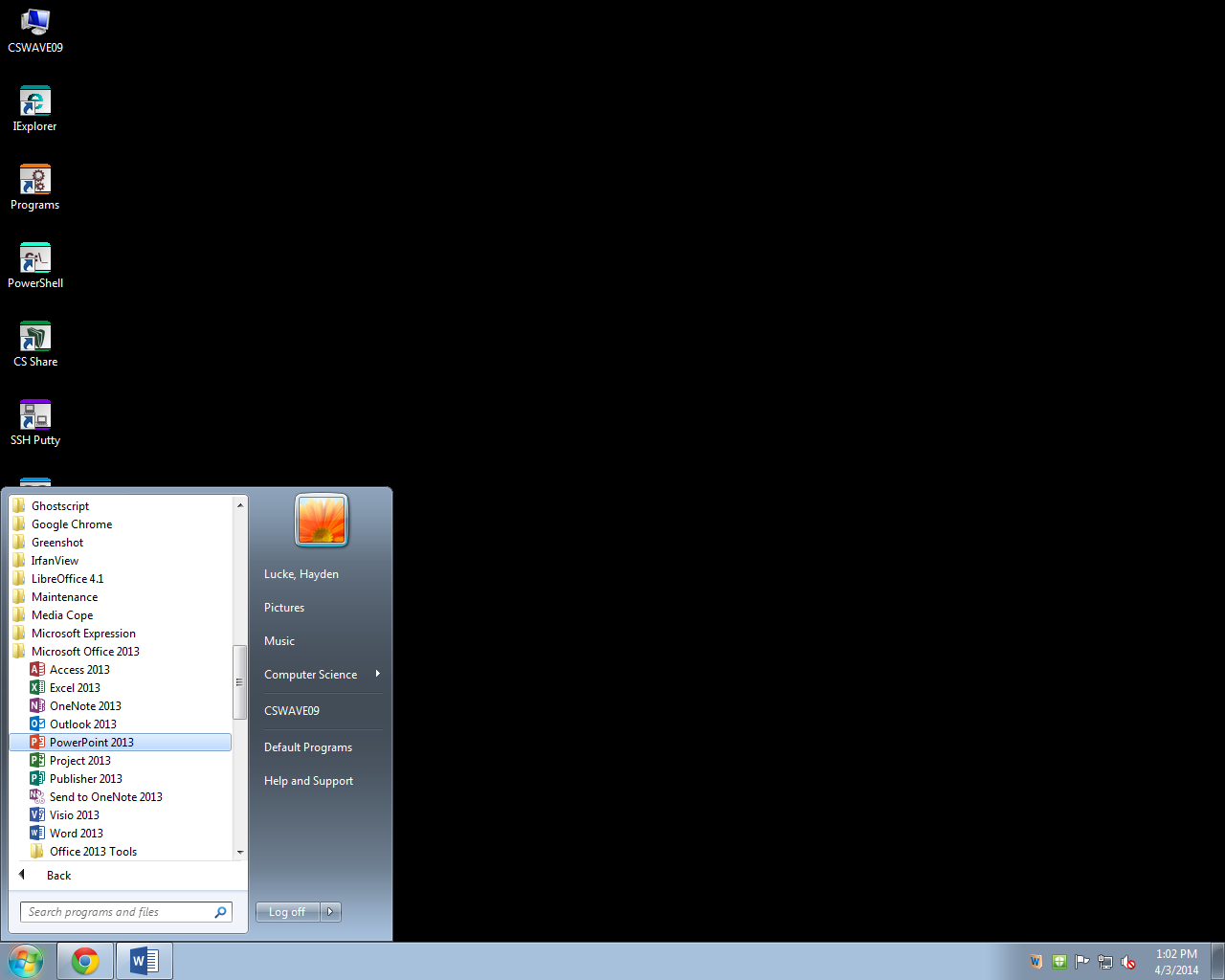 Picture of Open PowerPoint