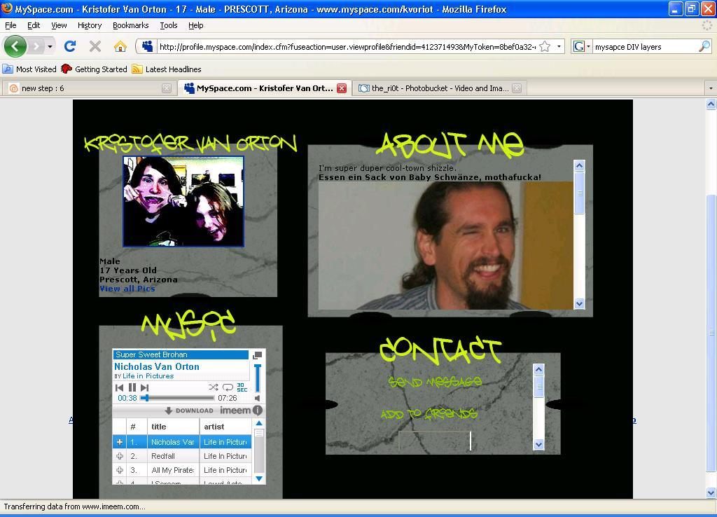 Picture of In Depth: Myspace DIV Overlays