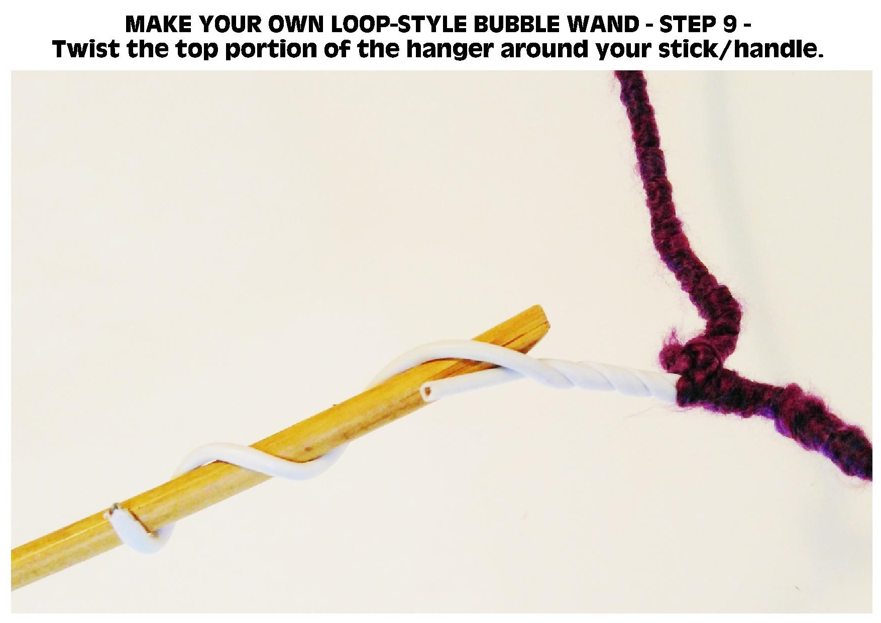 Picture of DIY BODACIOUS BUBBLE WANDS - LOOP STYLE WAND