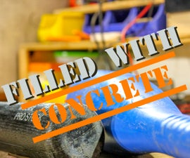 How to WEAP0NIZE a Wiffle Ball Bat by Filling It With CONCRETE