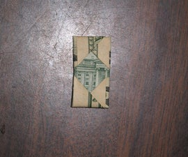 Fold a dollar bill into an impossibly small rectangle!