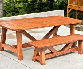How to Build a Farmhouse Table and Benches for $250   Woodworking DIY