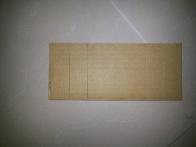 Cut a Cardboard Plate As Mentioned in the Layout