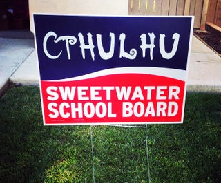 Cthulhu Political Sign