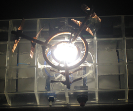 Solar recharged LED room light