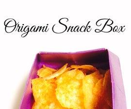 Origami Square Snack Box