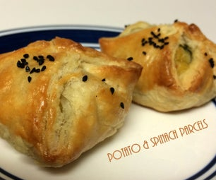 Potato and Spinach Parcels