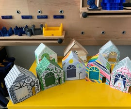 Paper Craft House With Lights