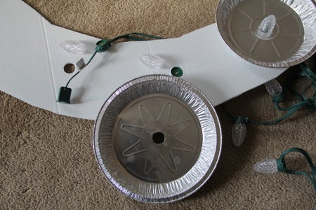 Assemble the GE Lights Into the Wreath