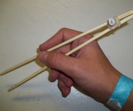 Chopstick trainer with only a rubber band! (and chopsticks)