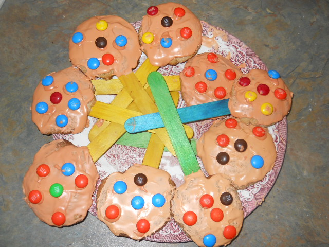 Picture of When Cookies Are Done & With Icing  and Candy on Them