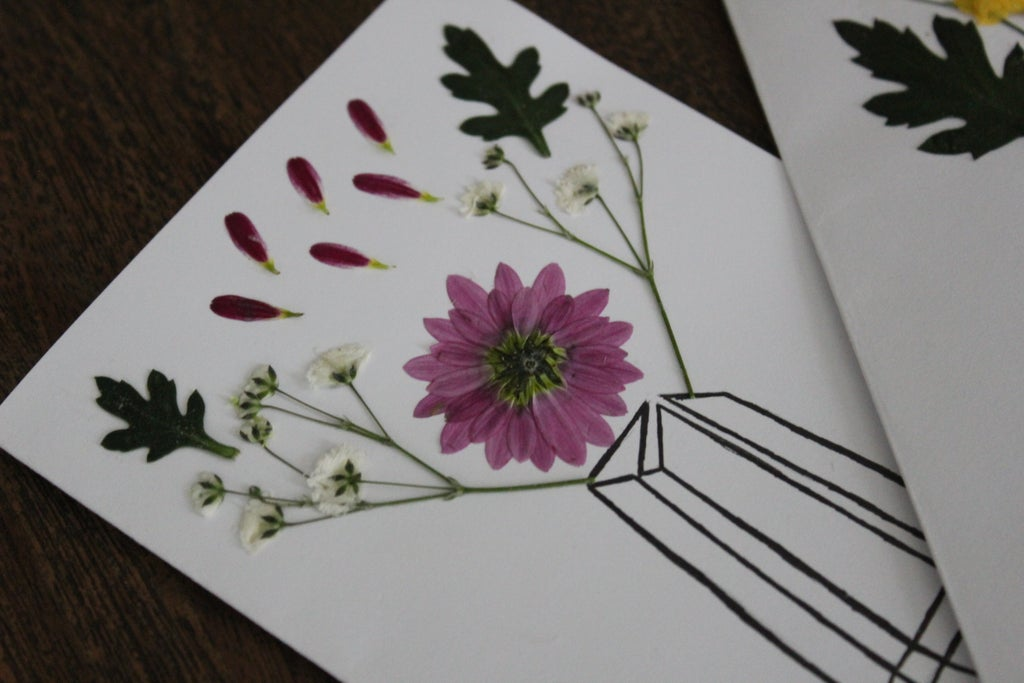 Diy Pressed Flower Card 7 Steps With Pictures Instructables