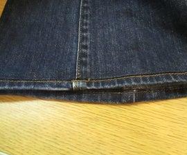 How to sew an original jean hem