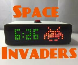 Space Invaders Desktop Clock