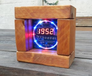 Custom Wooden Case for DIY Ebay DS1302 EC1204 V1.2 Rotating Clock