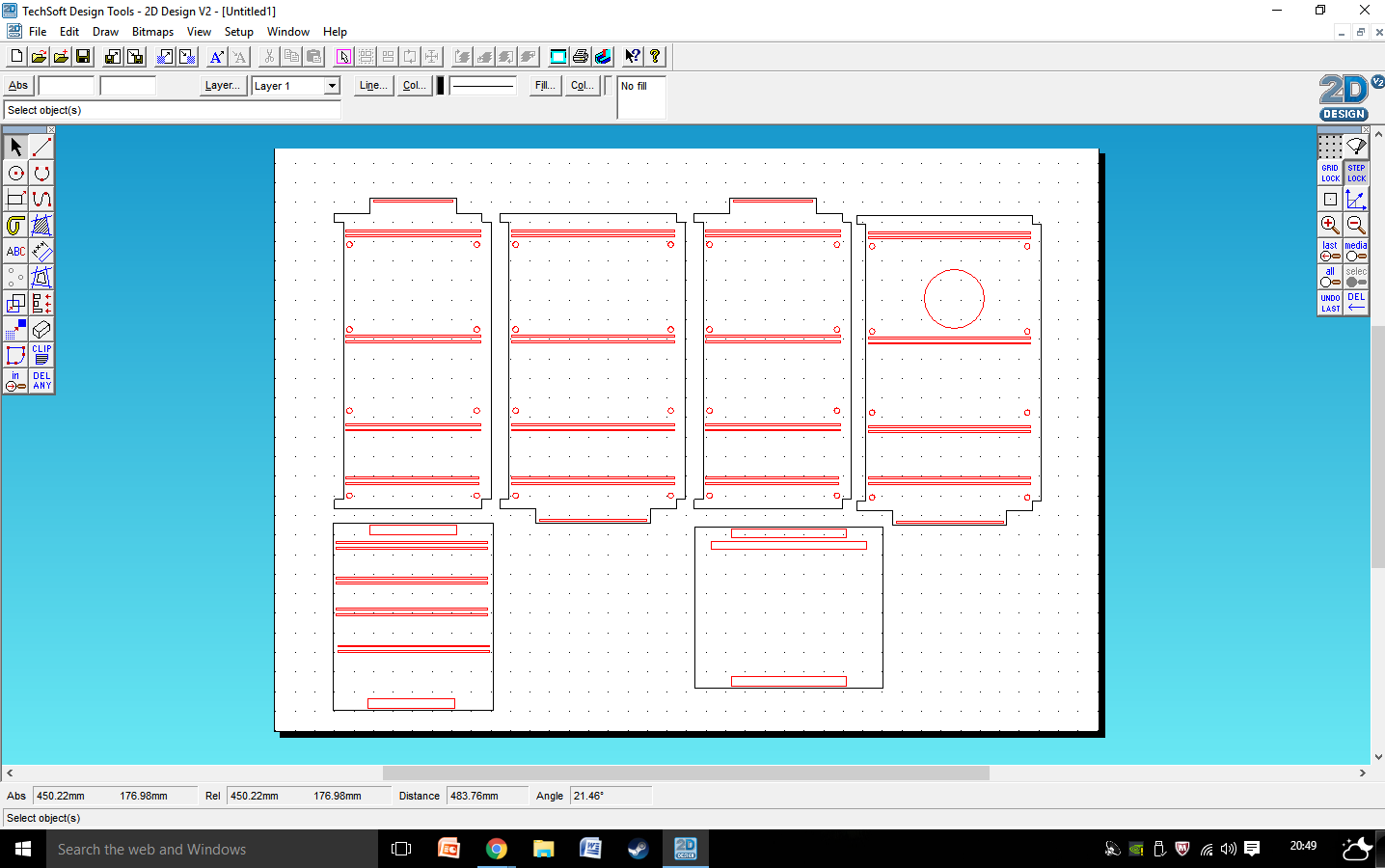 Picture of Making the CAD Design.