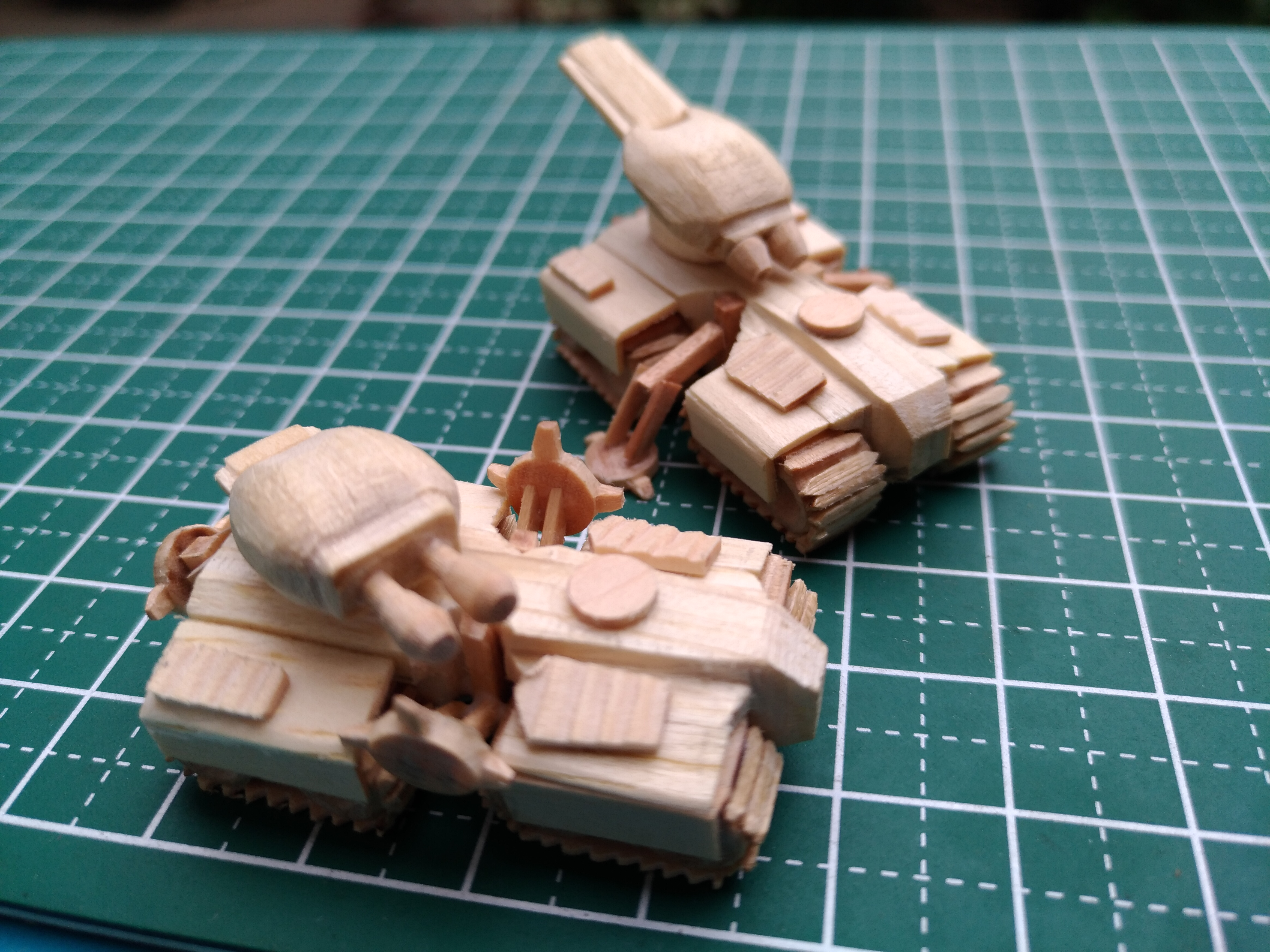 Picture of Starcraft 1 Terran Siege Tank Mini Popsicle Stick Model