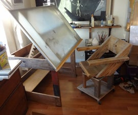 A Drafting Table Made from an IKEA Coffee Table