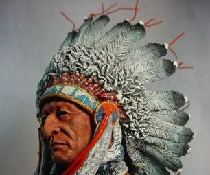 Painting an Oglala Chief