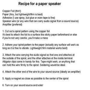 How to Build a Paper Speaker