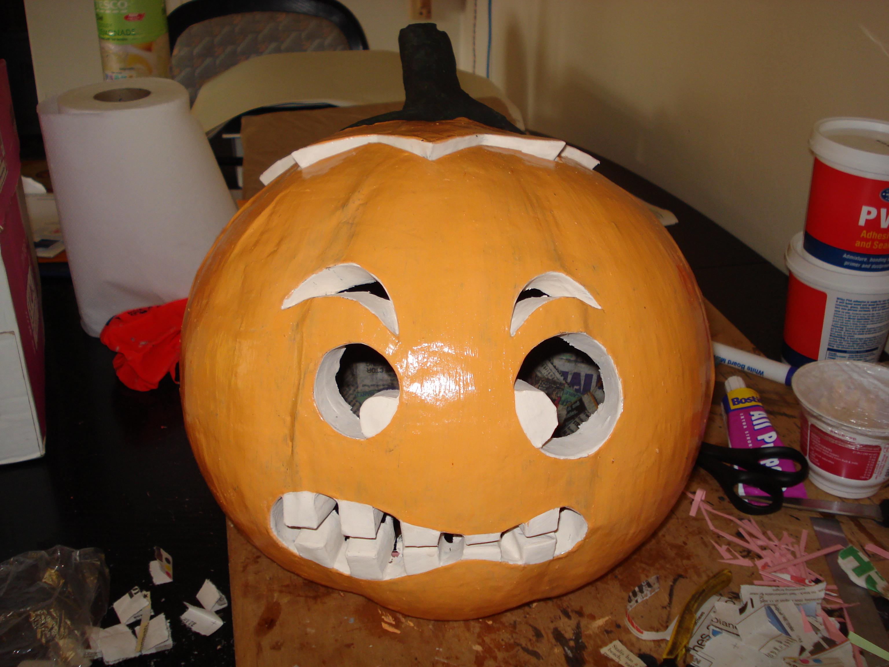 Picture of Pumpkin Head Halloween Costume