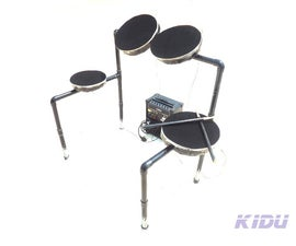 HOW TO MAKE AN ELECTRONIC DRUM.(not a MIDI sampler)   aka  KIDU
