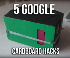 5 Google Cardboard VR Hacks