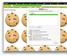 How to add easter egg cookies to your website!