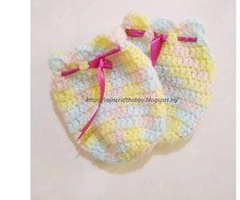 Crochet Thumbless Baby Mittens